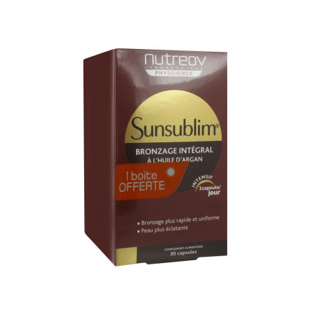 SUNSUBLIM NUTREOV Bronzage Integrale Lot de 3