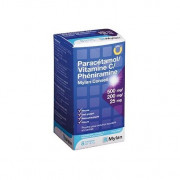 Paracétamol 500mg Vitamine C 200mg Phéniramine 25mg Mylan boîte de 8 sachets