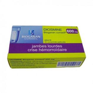 DIOSMINE 600MG BIOGARAN 30 COMPRIMES PELLICULES