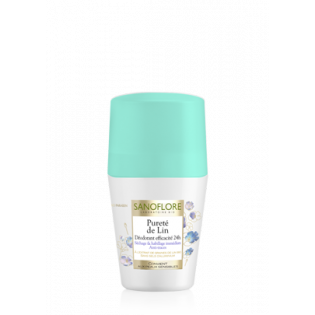 Sanoflore Déodorant 24h Pureté de Lin roll on 50 ML