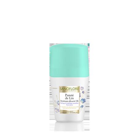Sanoflore Déodorant 24h Pureté de Lin roll on 50 ML
