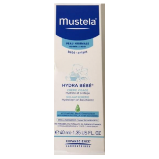 Mustela Bébé Crème hydra bébé visage. Tube de 40ML