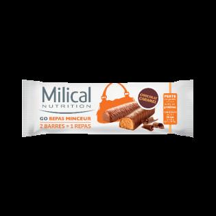MILICAL GO REPAS MINCEUR 2 BARRES POUR 1 REPAS GOUT CHOCOLAT CARAMEL