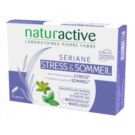 Naturactive Sériane Stress & Sommeil. Boite 30 gélules