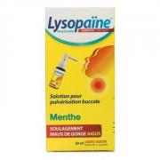 LYSOPAINE MAUX DE GORGE SANS SUCRE COLLUTOIRE MENTHE 20ML