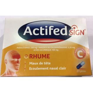 ACTIFED SIGN RHUME 20 GELULES