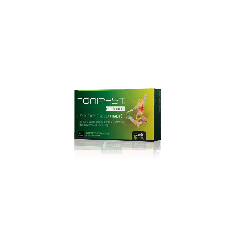 Multinature Bien-être et Vitalité - Santé Verte - 30 comprimés
