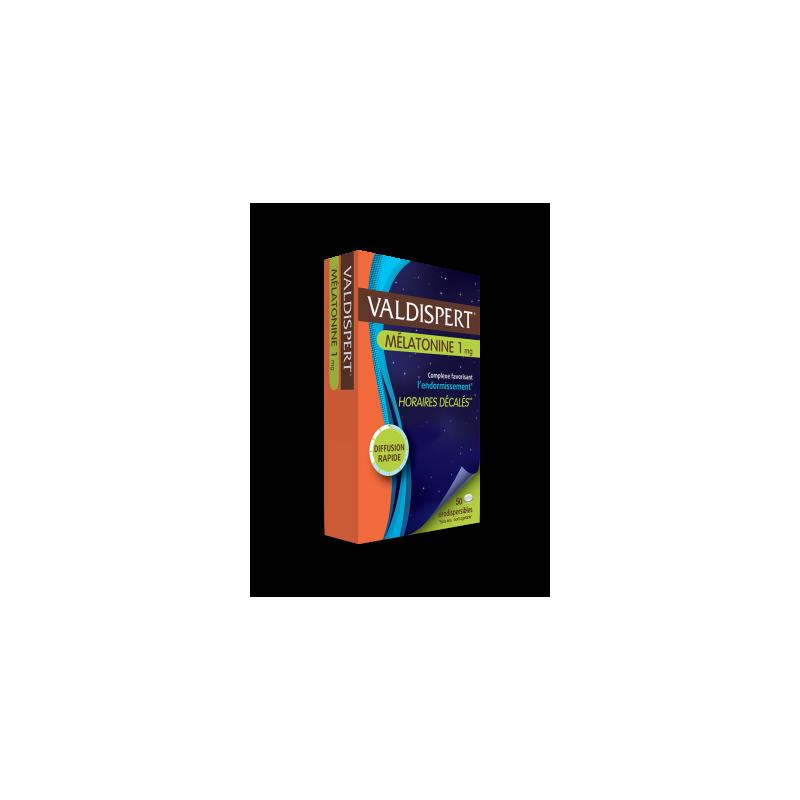 VALDISPERT MELATONINE 1ML BOITE DE 50 COMPRIMES ORODISPERSIBLES