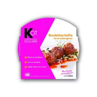 KOT Boulettes kefta, riz et aubergines 1 plat de 270 g