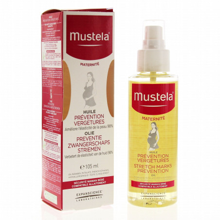 Mustela huile prevention vergetures 105ml