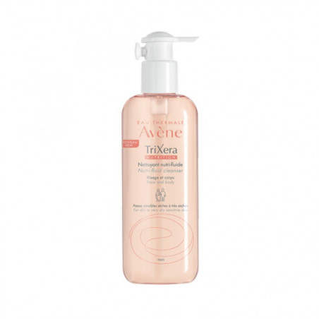Avène TriXéra Nutrition nettoyant nutri-fluide visage & corps peaux très sèches et atopiques. Flacon pompe de 400ml