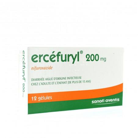 ERCEFURYL 200MG NIFUROXAZIDE BOITE DE 12 GELULES