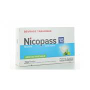 Nicopass 1,5mg 36 pastilles sans sucre menthe fraiche