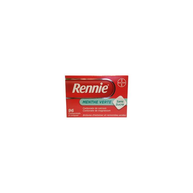 Rennie Menthe verte sans sucre 60 cps à croquer
