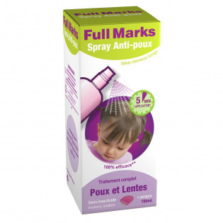 FULL MARKS SPRAY ANTI POUX + PEIGNE 150ML