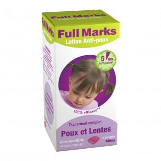 FULL MARKS LOTION ANTI POUX + PEIGNE 100ML