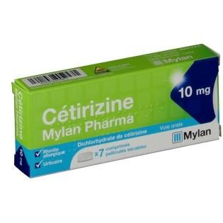CETIRIZINE MYLAN 10MG BOITE DE 7 COMPRIMES SECABLES
