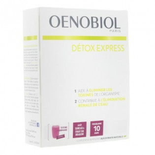 OENOBIOL DETOX EXPRESS BOITE DE 10 STICKS GOUT SUREAU ET FRUIT DU DRAGON