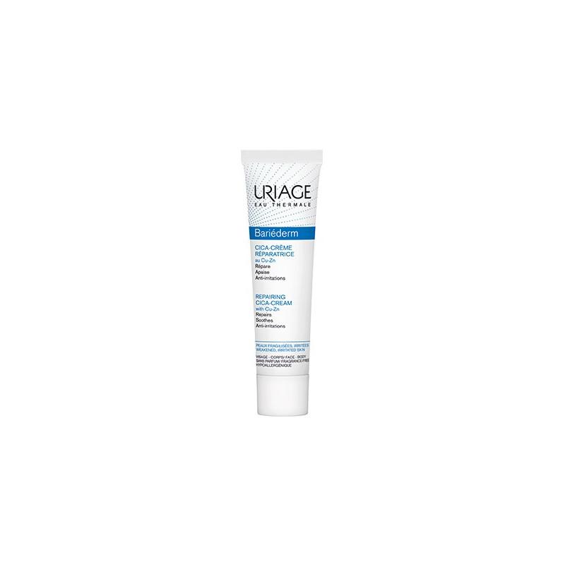 Uriage BARIÉDERM Cica-Crème. Crème Réparatrice au Cu-Zn. Tube de 40ML