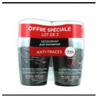 Vichy HOMME Déodorant Anti-Transpirant Controle Extrême. Lot 2x50ML