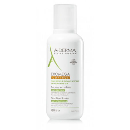 ADERMA EXOMEGA CONTROL BAUME EMOLLIENT Flacon pompe 400ml