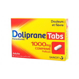DOLIPRANE TABS 1000MG 8 COMPRIMES PELLICULES