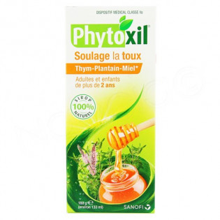 PHYTOXIL SIROP AVEC SUCRE FLACON 133ML