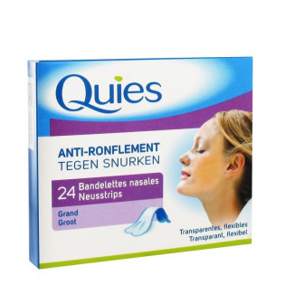 24 BANDELETTES NASALES ANTI RONFLEMENTS QUIES