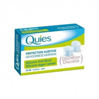 QUIES PROTECTION AUDITIVE SILICONE ANTI BRUIT DISCRETION 3 PAIRES