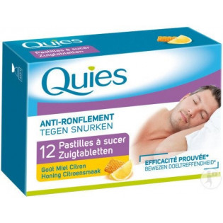 QUIES ANTI RONFLEMENT GOUT MIEL CITRON 12 PASTILLES