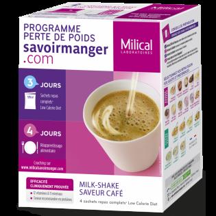 MILICAL MILK-SHAKE saveur café BOITE DE 4 SACHETS