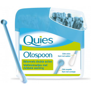 QUIES Otospoon, 100 bâtonnets ouatés double action