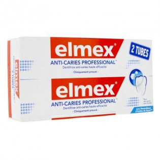 ELMEX ANTI CARIES PROFESSIONAL 2 TUBES DE 75ML