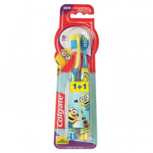 COLGATE DUO BROSSES A DENTS MINIONS 6 ANS ET + SOUPLE