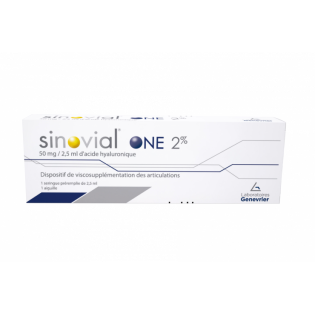 SINOVIAL ONE 2% 1 seringue pré remplie de 2.5ml 50MG/2.5 ML d'acide hyaluronique