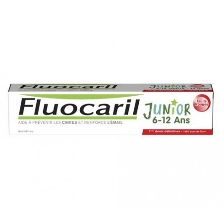 Fluocaril Junior Dentifrice 6 -12 ans. Goût Fruits RougesTube 75ml