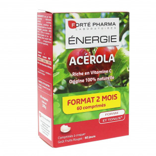ACEROLE FORTE PHARMA 60 COMPRIMES A CROQUER GOUT FRUITS ROUGES
