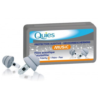 QUIES PROTECTION AUDITIVE AVEC FILTRE ACOUSTIQUE 1 PAIRE