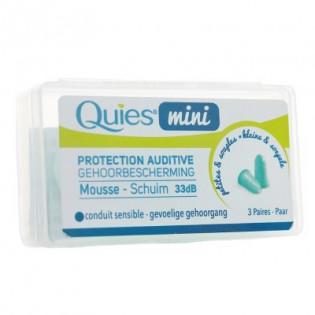QUIES PROTECTION AUDITIVE 3 PAIRES MINI EN MOUSSE