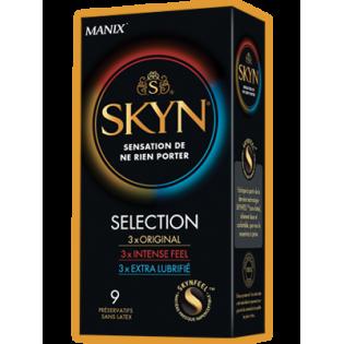 MANIX SKYN SELECTION 9 PRESERVATIFS SANS LATEX