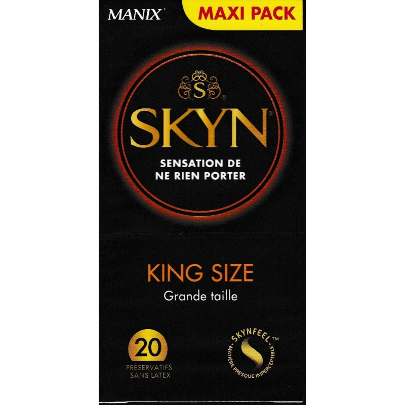 MANIX SKYN KING SIZE 20 PRESERVATIFS SANS LATEX