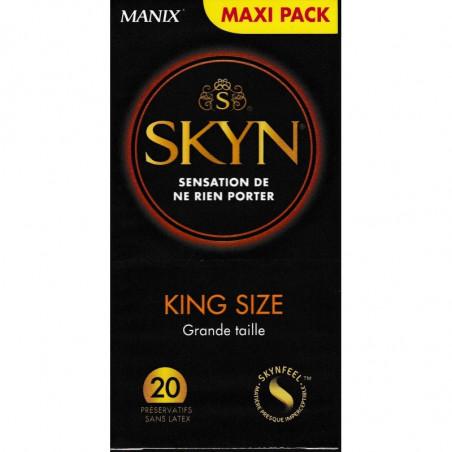 MANIX SKYN KING SIZE. 20 PRESERVATIFS SANS LATEX