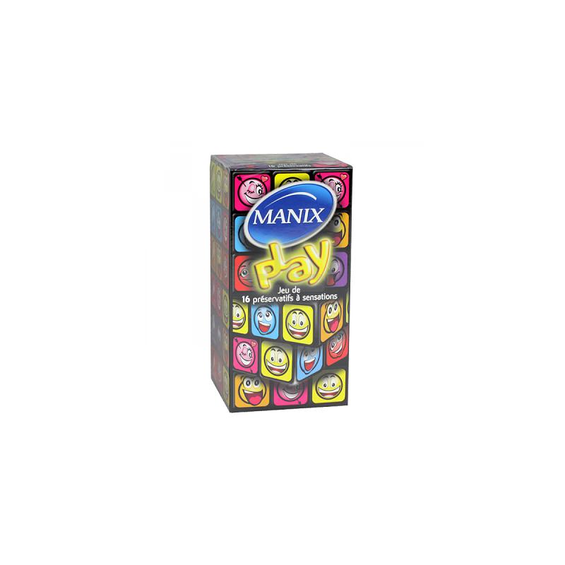 Manix Play. Boîte 16 préservatifs