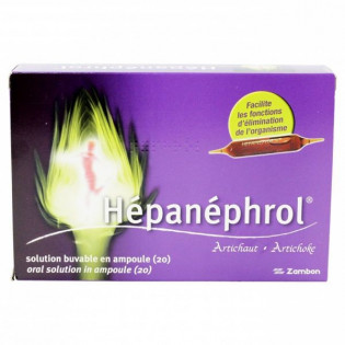 HEPANEPHROL ARTICHAUT 20 SOLUTION BUVABLE EN AMPOULE