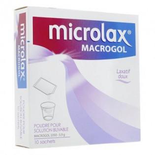 MICROLAX MACROGOL 5.9G LAXATIF DOUX POUDRE POUR SOLUTION BUVABLE 10 SACHETS