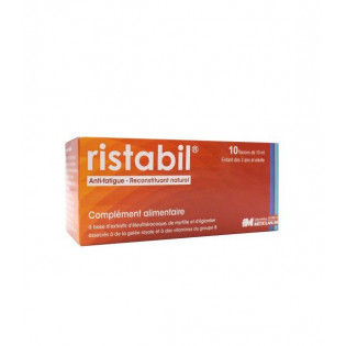 RISTABIL ANTI FATIGUE NATUREL 10 FLACONS DE 10 ML