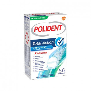 POLIDENT 66 COMPRIMES TOTAL ACTION 7 BENEFICES