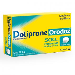 DOLIPRANE ORODOZ 500MG 12 COMPRIMES ORODISPERSIBLES SANS EAU DES 27 KG
