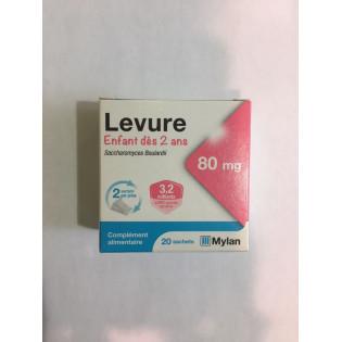 LEVURE ENFANT DES 2 ANS 80MG 20 SACHETS