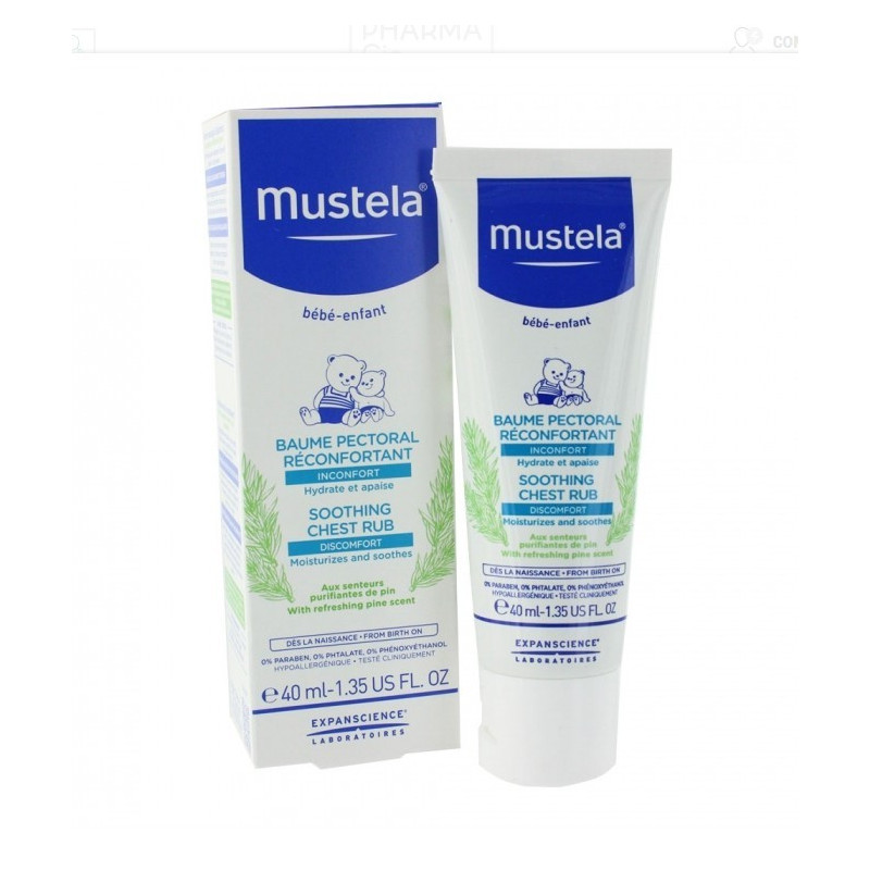 Mustela Baume réconfortant hydratant. Tube de 40ML